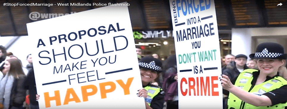 WM-Police-flashmob-forced-marriage-campaign-Nov-2016