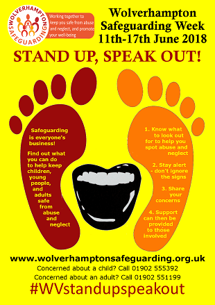 Stand Up, Speak Out! - Safeguarding Week is 11th - 17th June