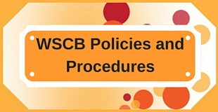 WSCB Policies and Procedures
